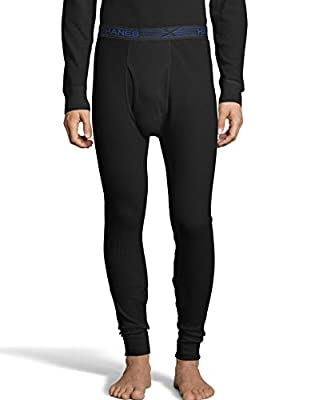 Hanes Men's Ultimate Thermal Pant with FreshIQ, X-Temp Technology & Organic Cotton Black