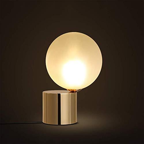 XMDDX moderne glazen bol, woonkamer tafel, bureaulamp met messing
