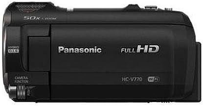دوربین فیلمبرداری پاناسونیک Full HD HC-V770، زوم اپتیکال 20X، سنسور BSI 1 / 2.3 اینچ، ضبط HDR، ضبط ویدئوی دوگانه Wi-Fi گوشی هوشمند (سیاه و سفید، ایالات متحده آمریکا)