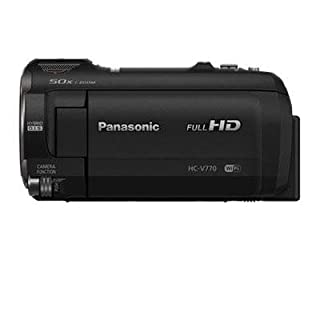 Panasonic Full HD Video Camera Camcorder HC-V770, 20X Optical Zoom, 1/2.3-Inch BSI Sensor, HDR Capture, Wi-Fi Smartphone Multi Scene Video Recording (Black) (B00RBG5J02) | Amazon price tracker / tracking, Amazon price history charts, Amazon price watches, Amazon price drop alerts