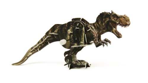 WeGlow International 3D Dinosaur Wind Up T-Rex Puzzle, 2-Pack
