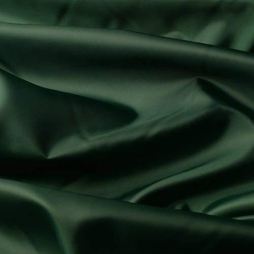 Seidentaft - Stoff Meterware - 27 Farben - TAFT - Futterstoff - Deko (dunkelgrün)