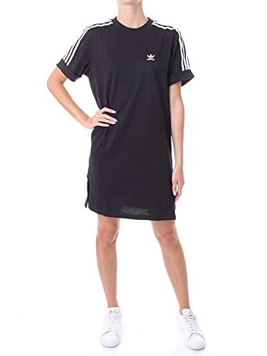 adidas Damen Tee Dress T Shirt, Schwarz, 36 EU