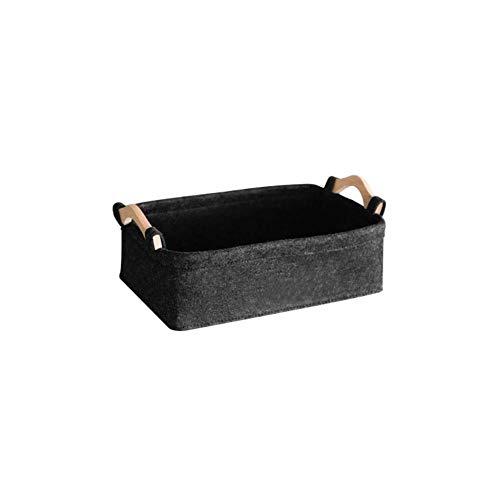 Storage Basket Escritorio de tela de fieltro para cosméticos, aperitivos (tamaño: 28 x 17 x 9,5 cm)