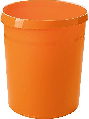 Preisvergleich Produktbild HAN Papierkorb GRIP,  18 Liter,  mit 2 Griffmulden,  stabil,  rund,  Trend Colour orange