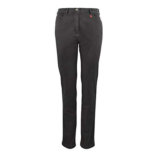 Relaxed by TONI Meine beste Freundin Jeans Damen Jeans gerader Beinverlauf Stoff, Groesse 44K, anthrazit denim