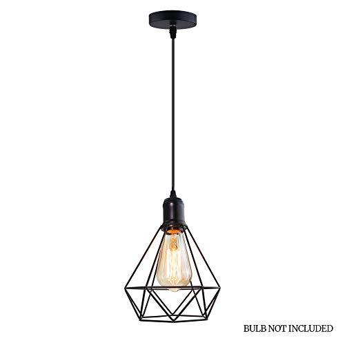 Industrial Vintage Deckenleuchte Retro Deckenlampe Industrie Kronleuchter Lampenschirm Hänge Pendelleuchten mit E27 Fassung(Black)