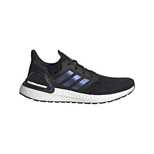 adidas Men's Ultraboost 20 Running Shoe, Black/Boost Blue Violet Metallic/White, 10.5 M US