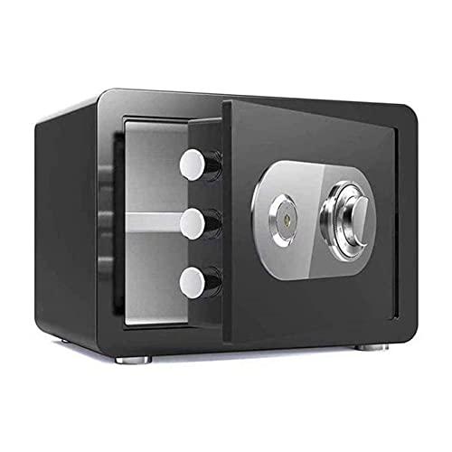 Caja de Seguridad MecáNica, Caja de Seguridad MecáNica Para el Hogar + Compartimento Para Llaves, Caja Fuerte de Acero de Alta Seguridad Protección Antirrobo Caja de Documentos a Prueba de Fuego