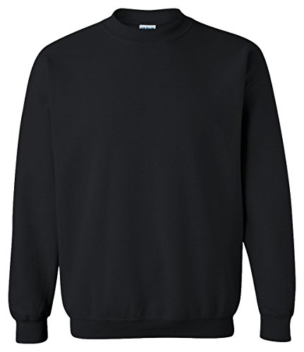 Gildan Activewear 50/50 Crewneck Sweatshirt, XL, BLACK