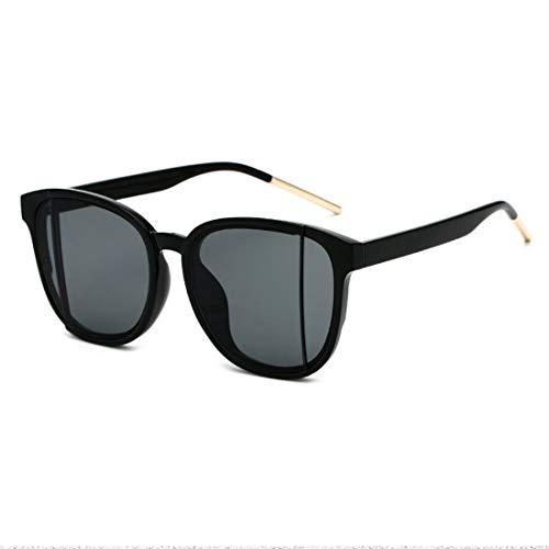 MIMIOOORE Hombres Mujeres Personalidad del Marco de la Lente Doble Completa Las Gafas de Sol de protección UV de conducción al Aire Libre Beach (Color : Black Frame Black Gray Piece)
