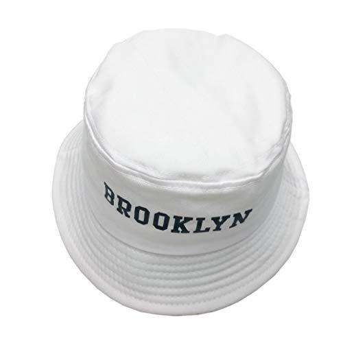 AROVON Brooklin Bucket Hat Blanco Panamá Fishing Cap Hombres y Mujeres Bob Fishermen Sombreros Caza Escalada Tapas