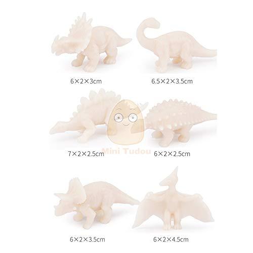 WXIAO HMMOZ 6 unids DIY Coloring Pintura Animal Dinosaurio Modelo Figurias 3D Dibujo de grifería Colección Conjunto Juguetes educativos para niños Regalo Animado Figura (Color : 6PCS Dinosaur)