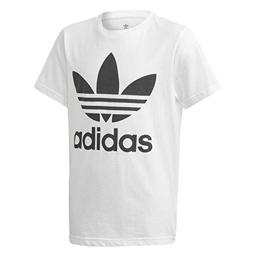 adidas Trefoil Tee T-Shirt Enfant White/Black FR: L (Taille Fabricant: 1213)