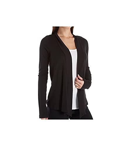 Splendid Women's Long Sleeve Open Wrap Cardigan Sweater, Black, Large