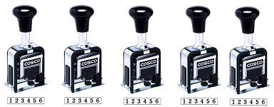 Cosco Automatic Numbering Machine, 6-Digits, 8 Modes, Black Ink (026138) (5-(Pack))