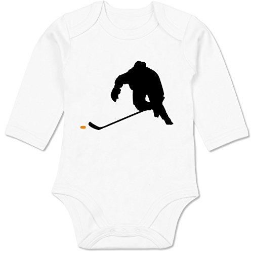 Sport Baby - Eishockey Sprint - 6/12 Monate - Weiß - Body Eishockey - BZ30 - Baby Body Langarm