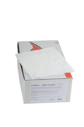 Semy Top speciale poetsdoek in dispenserdoos, wit, 32 x 38 cm, 100 doeken per doos, 1 stuks