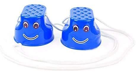 Hinleise Walk Stilt Balance Trainers Juguetes para juegos al aire libre Caminar Zancos de salto para niños 10 x 5,5 x 6 cm (azul)