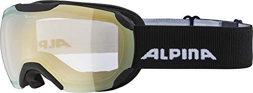 ALPINA PHEOS S Skibrille, Unisex– Erwachsene, black matt, one size