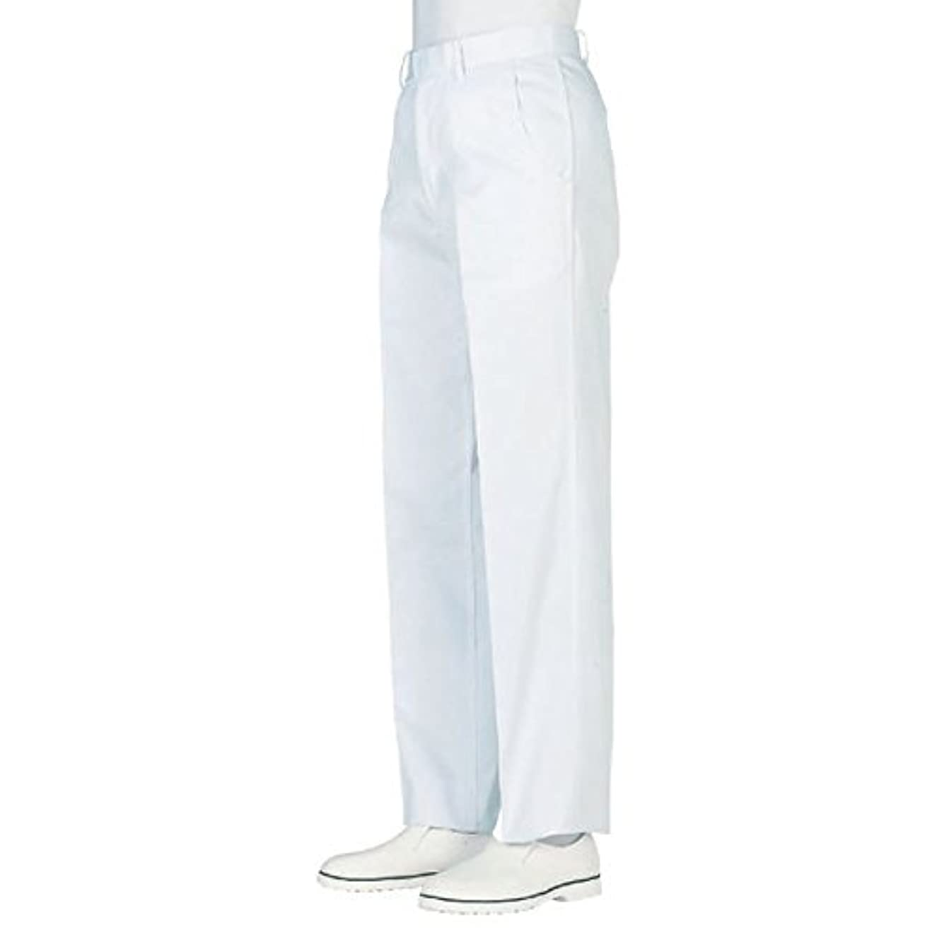 一般的な崩壊非公式workfriend 男子ノータック白パンツ SKH430 ウエスト110cm