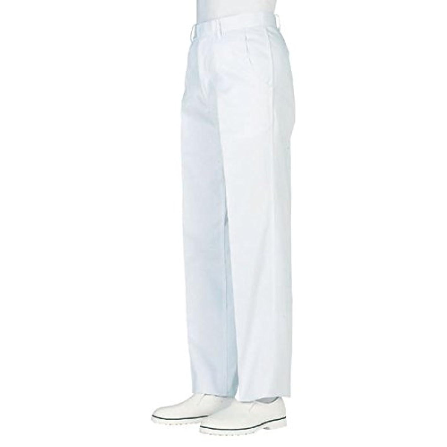 邪悪なテニス汚染されたworkfriend 男子ノータック白パンツ SKH430 ウエスト110cm