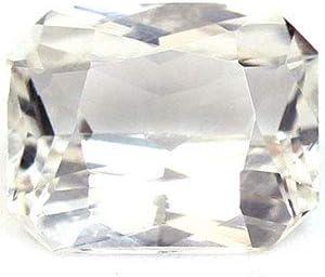 Ranking TOP18 GemsNY Max 80% OFF Untreated 1.21 Carat Natural Emerald Cut Sapphire White