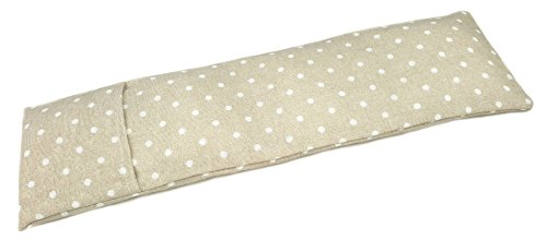 Saco térmico cervical de semillas de trigo y eucalipto con funda lavable 50x16cm (Topos beige)