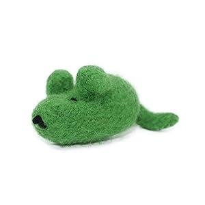 Filzmaus grün mit Baldrian – für Katzen