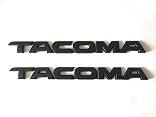 2pcs Black TACOMA Trunk Back Decal Emblem Sticker Badge