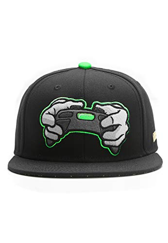 Hands of Gold All Day Cap Snapback, Black/Neon Green, one Size