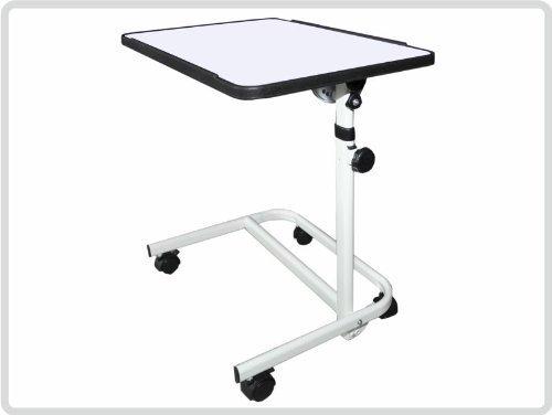 Beistelltisch Beistellwagen Krankentisch Bett-Tisch/weiß fahrbar
