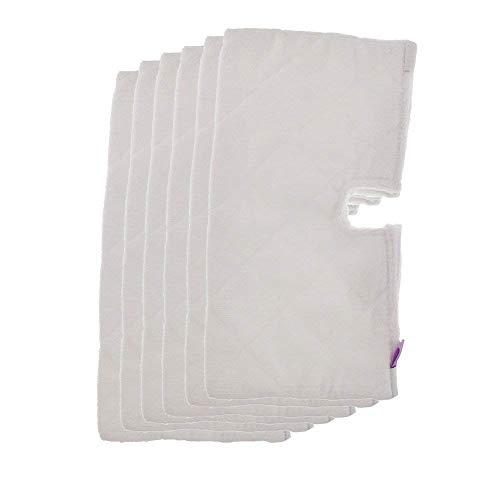 Fushing 6x Ersatz-Reinigungspads aus Mikrofaser für Shark Dampfreiniger Steam Pocket Mop S3501/S3601/S3901