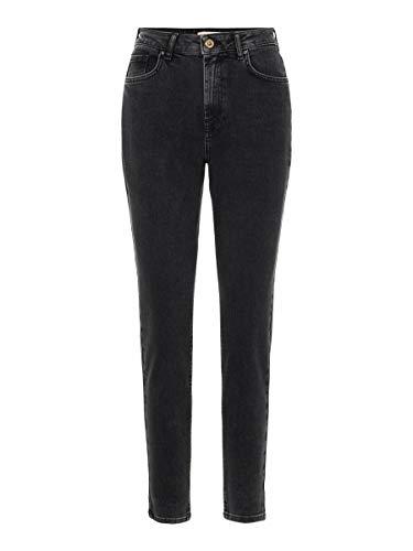 PIECES Female Mom Jeans High Waist LBlack