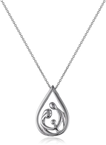 Gifts for Expecting Moms | Sterling Silver Family Drop Pendant Necklace, 18