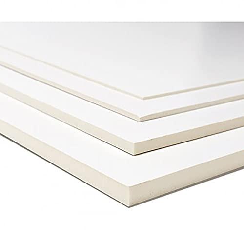 Cartón pluma Foam Panel Gomaespuma ligero Blanco 2 caras, tamaño Din A3, Grosor 3mm (sin adhesivo) - 5 hojas 420x297mm - Enmarcado, Exposiciones, Presentaciones, Proyectos educativos