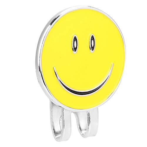 DAUERHAFT Clip de Sombrero de Superficie de galvanoplastia de Pulido de Metal Que Lleva fácil, para golfistas(Yellow)