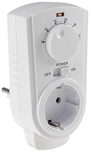 Steckdosen-Thermostat Analog mit Drehregler Steckdose mit Temperaturfühler 3500W Temperatur-Regler für Heiz- und Kühlgeräte Heizlüfter Infrarot-Heizung Ventilator