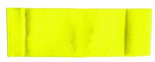 Unbekannt größenverstellbare Armbinde/Mediaband bedruckt mit IHREM INDIVIDUELLEM TEXT (XXXL 35-46 cm) (Farbe neongelb)