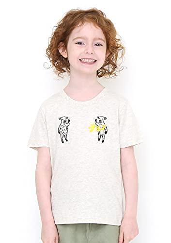 (グラニフ) graniph キッズ 刺繍 Tシャツ/ラムチョップ (ヘザーナチュラル) キッズ 110 (g116)