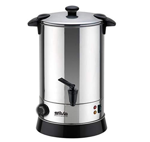 Silva-Homeline PK-HG 060 - Máquina para bebidas calientes (acero inoxidable, con grifo, para calentar, mantener caliente, conservas o como olla, 6,8 L), color negro y plateado