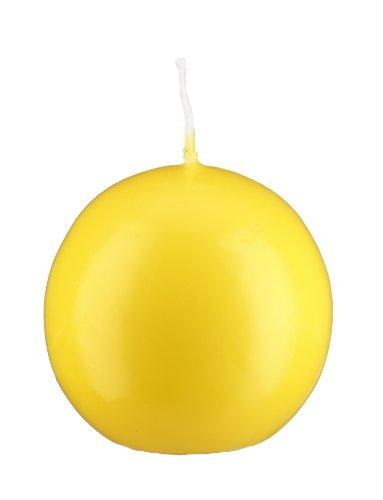 Bougie boule Citron 10 cm, 4 bougies, Bougie ronde