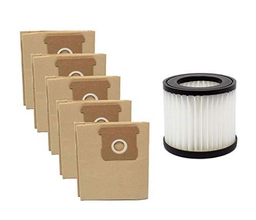 Parkside Staubsaugerbeutel + Faltenfilter Set (bestehend aus 5 Staubbeutel und 1 Faltenfilter), für Parkside Nass-/Trockensauger PNTS 20-Li A1 - LIDL IAN 310656
