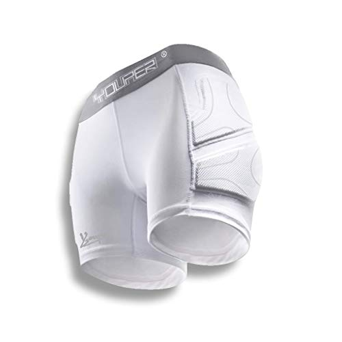 Youper Women's Padded Soccer Sliding Undershorts, Impact Sliders Shorts for Lower Body Protection (White, Medium)
