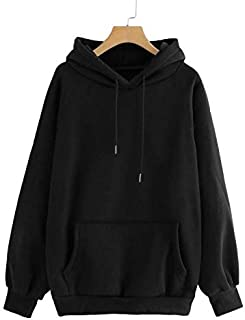 JUNEBERRY Cotton Stylish Hooded Regular Fit Sweatshirt for Women
