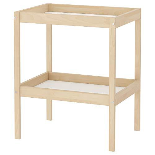 IKEA SNIGLAR Babys Wickeltisch Buche/weißes Kind