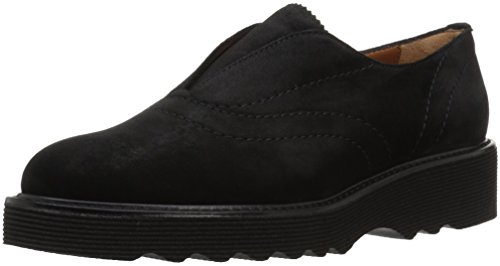 Aquatalia Women's Kaleigh Suede Loafer, Black, 10.5M M US