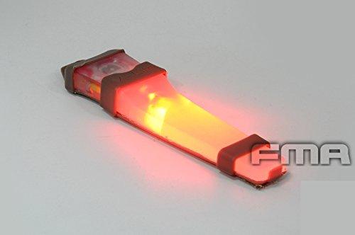 Casco Safty Velcro VLA V-Lite LED E-LITE luz estroboscópica (azul, verde, rojo) linterna DE Base para Airsoft táctico al Camping Rojo rosso