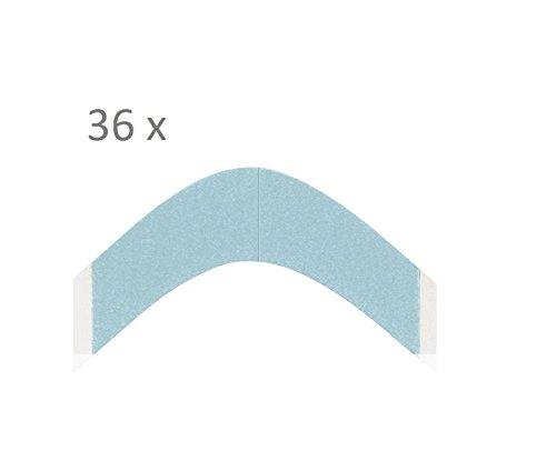 WALKER TAPE Derma Tec Blue Liner Angle A Contour 36 pièces pour perruques et extensions
