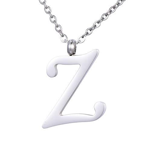 Morella Collana da Donna in Acciaio Inox Argento con Ciondolo Lettera Z